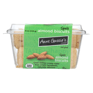 Aunt Gussie's Biscuits - Sugar Free Almond - Case Of 8 - 8 Oz.