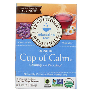 Traditional Medicinals Organic Easy Now Herbal Tea - 16 Tea Bags - Case Of 6