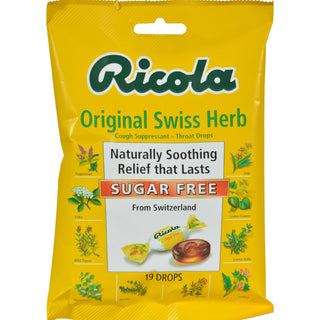 Ricola Sugar Free Drops - Swiss Herb - Case Of 12 - 19 Pack