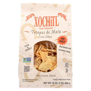 Xochitl Corn Chips - Unsalted - Case Of 9 - 16 Oz.