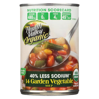 Health Valley Natural Foods Organic Soup - 14 Garden Vegetable - Case Of 12 - 15 Oz
