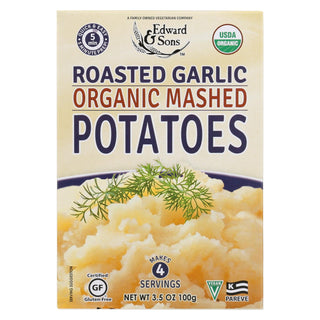 Edward And Sons Organic Mashed Potatoes - Roasted Garlic - Case Of 6 - 3.5 Oz.