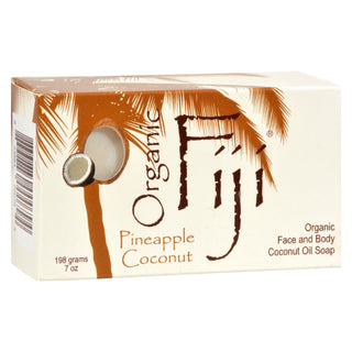 Organic Fiji Organic Face And Body Coconut Oil Soap Pineapple Coconut - 7 Oz