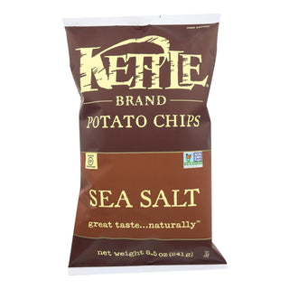 Kettle Brand Potato Chips - Sea Salt - Case Of 12 - 8.5 Oz.