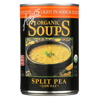 Amy's - Organic Low Salt Split Pea Soup - Case Of 12 - 14.1 Oz