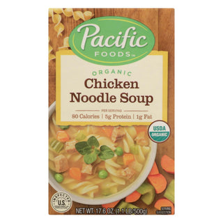 Pacific Natural Foods Noodle Soup - Chicken - Case Of 12 - 17.6 Oz.