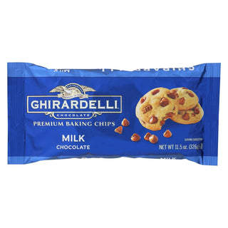 Ghirardelli Baking Chips - Milk Chocolate - Case Of 12 - 11.5 Oz.