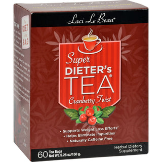 Laci Le Beau Super Dieter's Tea Cranberry Twist - 60 Tea Bags