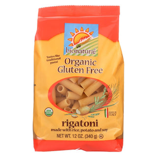 Bionaturae Rigatoni - Gluten Free - Case Of 12 - 12 Oz.