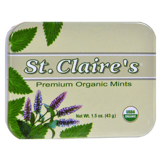 St Claire's Organic Premium Mints Display Case - Case Of 6 - 1.5 Oz