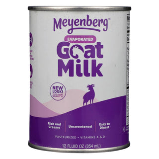 Meyenberg Evaporated Goat Milk - Case Of 12 - 12 Fl Oz.