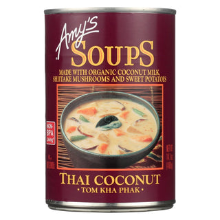 Amy's - Soup - Tom Kha Phak Thai Coconut - Case Of 12 - 14.1 Oz