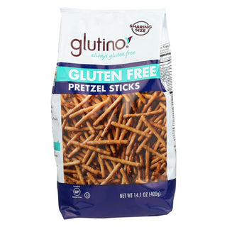 Glutino Pretzels Sticks - Case Of 12 - 14.1 Oz.
