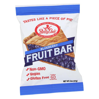 Betty Lou's Blueberry Fruit Bar  - Case Of 12 - 2 Oz