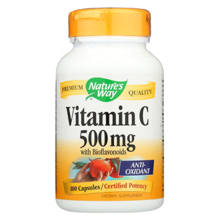 Nature's Way - Vitamin C-500 With Bioflavonoids - 500 Mg - 100 Capsules
