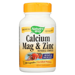 Nature's Way - Calcium Mag And Zinc - Mineral Complex - 100 Capsules