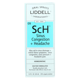 Liddell Homeopathic Sinus Congestion And Headache Spray - 1 Fl Oz