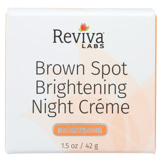 Reviva Labs - Brown Spot Night Cream Skin Lightening - 1 Oz