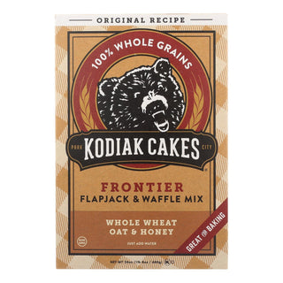 Kodiak Cakes Flapjack And Waffle Mix - Whole Wheat Oat And Honey - Case Of 6 - 24 Oz.