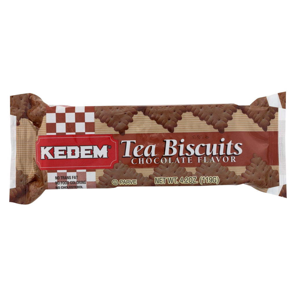 Kedem Tea Biscuits - Chocolate - Case Of 24 - 4.2 Oz.