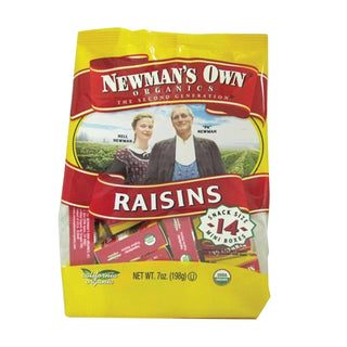 Newman's Own Organics California Raisins - Organic - Case Of 12 - 0.5 Oz.