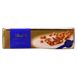 Lindt - Bar Swiss Milk Hazelnut - Case Of 10-10.5 Oz