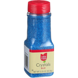 Cake Mate - Decorating Decors - Crystals - Blue - 2.25 Oz - Case Of 6