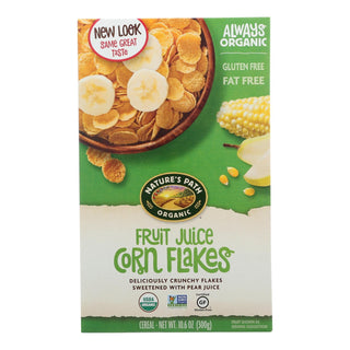 Nature's Path Organic Corn Flakes Cereal - Fruit Juice Sweetened - Case Of 12 - 10.6 Oz.