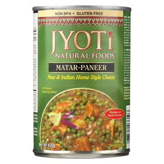 Jyoti Cuisine India Matar Paneer - Case Of 12 - 15 Oz.