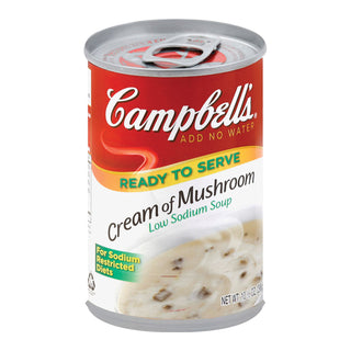 Campbell's Cream Of Mushroom Soup - Case Of 12 - 10.5 Oz