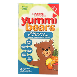 Hero Nutritionals Yummi Bears Echinacea Plus Vitamin C And Zinc - 40 Chewables