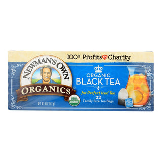 Newman's Own Organics - Tea Black Family Size - Case Of 6 - 22 Ct