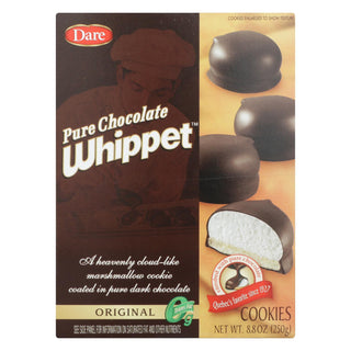 Dare Whippet Pure Chocolate - Original - Case Of 12 - 8.8 Oz.