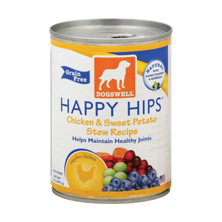 Dogs Well Happy Hips Chicken And Sweet Potato Stew Dog Food - Case Of 12 - 13 Oz.