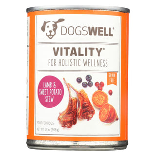 Dogs Well Vitality Lamb And Sweet Potato Stew Dog Food - Case Of 12 - 13 Oz.