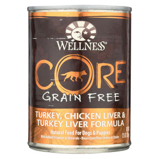 Wellness Pet Products Dog Food - Gain Free - Turkey And Chicken With Liver - Case Of 12 - 12.5 Oz.
