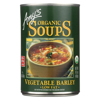 Amy's - Organic Low Fat Vegetable Barley Soup - Case Of 12 - 14.1 Oz