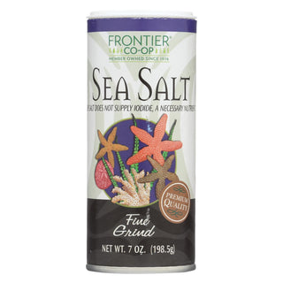 Frontier Herb Sea Salt - Fine Grind - 7 Oz