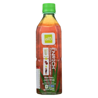Alo Original Enrich Aloe Vera Juice Drink - Pomegranate And Cranberry - Case Of 12 - 16.9 Fl Oz.