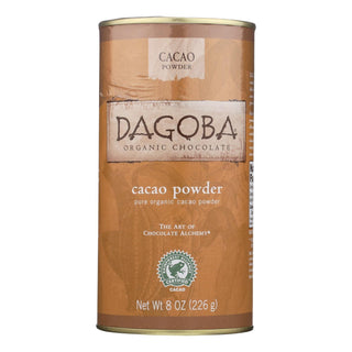 Dagoba Organic Chocolate - Cacao Powder - Case Of 6 - 8 Oz.