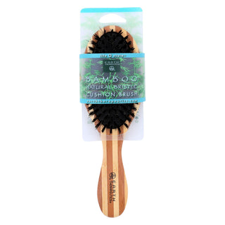 Earth Therapeutics Regular Bamboo Natural Bristle Cushion Brush - 1 Brush