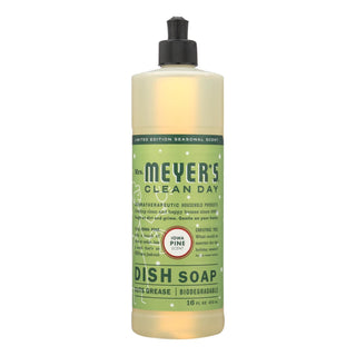 Mrs. Meyer's Clean Day - Liquid Dish Soap - Iowa Pine - Case Of 6 - 16 Fl Oz.