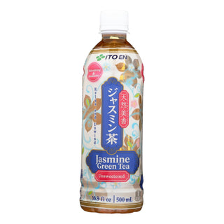 Ito En Unsweetened Traditional Green Jasmine Tea - Case Of 12 - 16.9oz.
