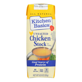 Kitchen Basics All Natural Unsalted Chicken Stock  - Case Of 12 - 8.25 Oz