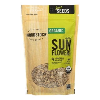 Woodstock Organic Sunflower Seeds - Hulled - Case Of 8 - 12 Oz.