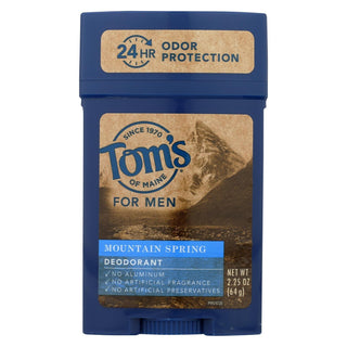 Tom's Of Maine Men's Deodorant Mountain Spring - 2.25 Oz - Case Of 6