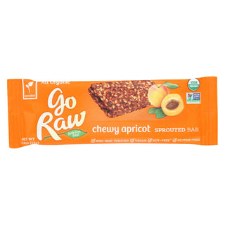 Go Raw - Organic Sprouted Bar - Chewy Apricot - Case Of 10 - 0.423 Oz.