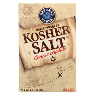 Natural Tides Mediterranean Kosher Salt - Coarse Crystals - Case Of 6 - 2.2