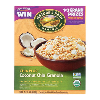 Nature's Path Organic Chia Plus Granola - Coconut Chia - Case Of 12 - 12.34 Oz.