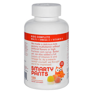 Smartypants Children's All-in-one Multivitamin Plus Omega 3 Plus Vitamin D Gummies - 120 Ct
